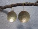 14kt Gold Disk Earrings - $395