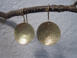 14kt Gold Disk Earrings - $395